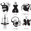 Stock Vector: Signs of the zodiac
