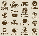 Logos on coffee — Stock Vector