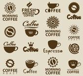 Logos on coffee — Stock Vector