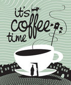 コーヒー 1 杯 — ストックベクタ