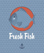 Fresh fish — Stockvector