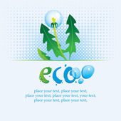 Ecological banner — Stock Vector