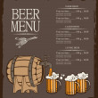 Menu for beer — Stock Vector