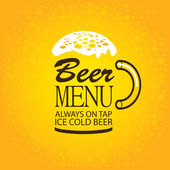 Beer menu — Stock Vector
