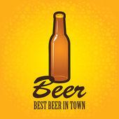 Flasche bier — Stockvektor