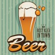 Retro beer - Stock Vector