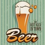 Retro beer — Stock Vector