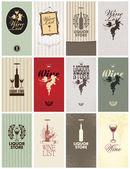 Set of Wine — Stock Vector