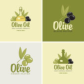 Olives and oil — Stock Vector