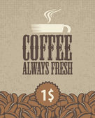 Always fresh coffee — Stock Vector