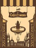 City café için menü — Stok Vektör