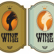 Royalty-Free Stock Vector Image: Labels for wine