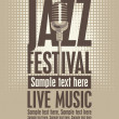 Jazz festival — Vector de stock #24438619
