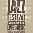 Jazz festival — Stockvektor #24438619