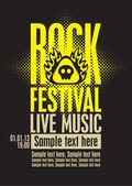 Rock festiva — Stock Vector