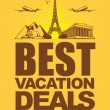 Best vacation deals — Stock Vector
