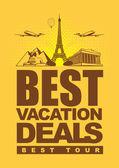 Best vacation deals — Stock Vector