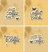 Coffee breaks — Stock Vector