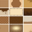 Coffee backgrounds — 图库矢量图片
