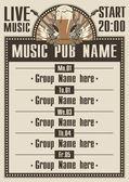 Musical pub — Stock Vector