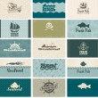 Seafood — Vector de stock