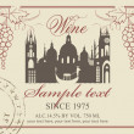 Wine label — Stock Vector #27773445