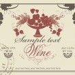 Label for wine — Stock Vector