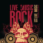 Rock music — Stock Vector