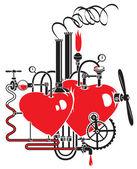 Liefde fabriek — Stockvector