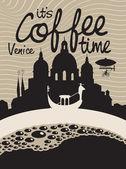 Coffee venice — Stock Vector