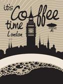 Coffee london — Stock Vector