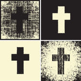 Cross and textures — Vecteur