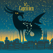 Capricorn — Stockvektor