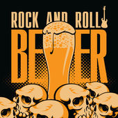 Beer and rock 'n' roll — Stock Vector