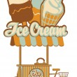 Ice cream on wheels — Stock Vector