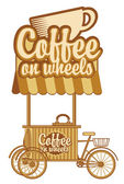 Coffee on wheels — Stock Vector