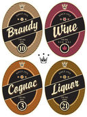 Labels for alcohol — Stock Vector