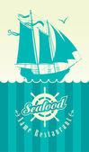 Restaurant seafood — Stock Vector