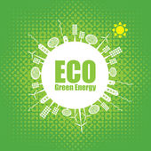 Green energy — Vector de stock