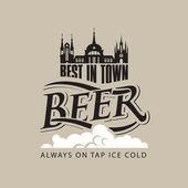Beer tap on — Stock Vector