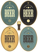 Labels for beer — Vector de stock