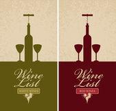 Wine list — Stock Vector