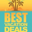 Stock Vector: Vacation deals