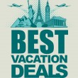 Vacation deals — Stock Vector