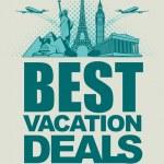 Vacation deals — Stock Vector