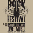 Rock festival — Stock Vector