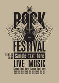 Rock festival — Stock Vector