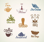 Food and drinks — Stock Vector
