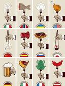 International cuisine — Stock Vector
