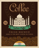 Indian coffee — Stock Vector